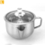 201 Stainless Steel Kitchen Oil Filter Bowl Soup Fat Separator Gravy Fat Separator with glass lid
