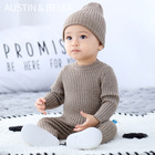 AustinBella/wholesale boutique kint baby boy sweater sets knitted clothing knitting designs infant toddler baby winter clothes