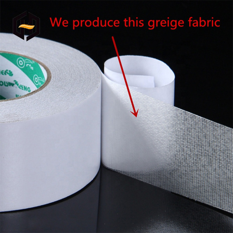 Композитная полиэтиленовая хлопковая однотонная клейкая лента, серая ткань для двухсторонней клейкой ленты