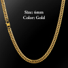 6mm Gold Lobster Clasp Cuban Chain