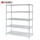 Wire Wire Shelving Suppliers 800lbs Loading Weight Per Steel Shelf 5 Tiers NSF Metro Office Industrial Storage Racking Wire Metal Shelving In Chrome Finish