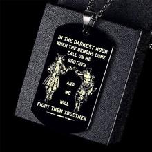 Vnox в Самый мрачный час, когда демоны придут, Brothers, бирки для мужчин, кулон из нержавеющей стали, BFF, ожерелья, братерский подарок(Китай)