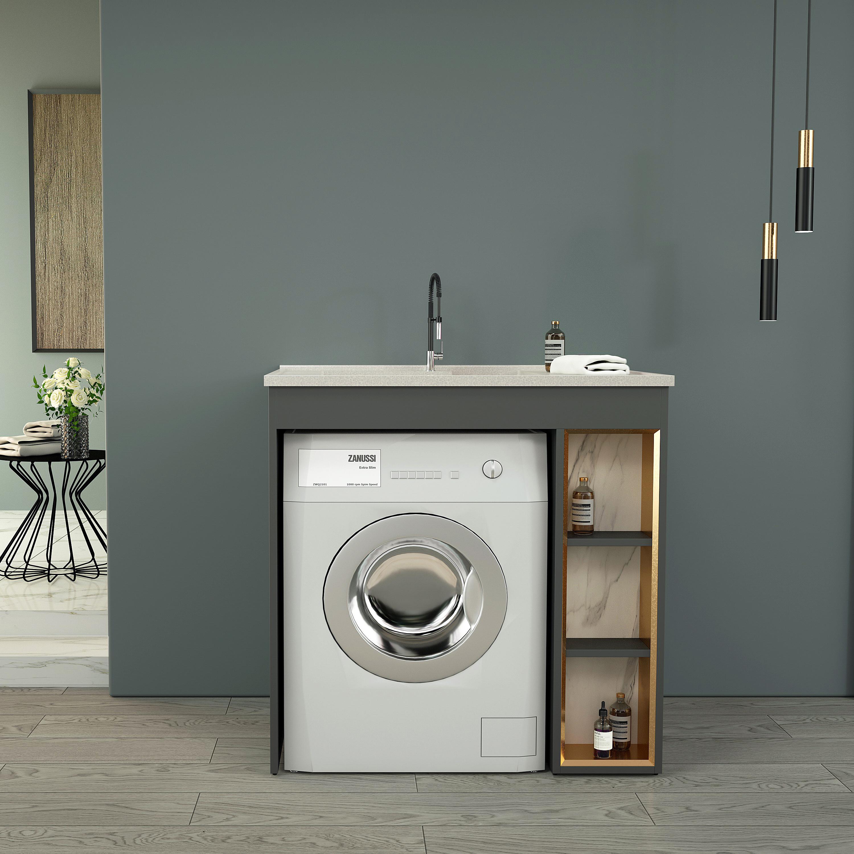 Ästhetisches Design Edelstahl Waschmaschinen Schrank   Buy Waschen ...
