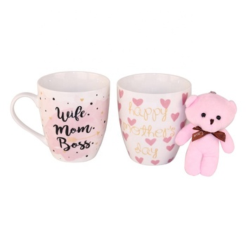 superior romantic gift mug with toy for ladies women wife gift set christmas birthday return gifts