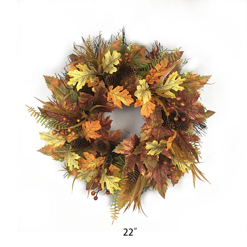 Artificial plants rose wreaths for front door and shop windows