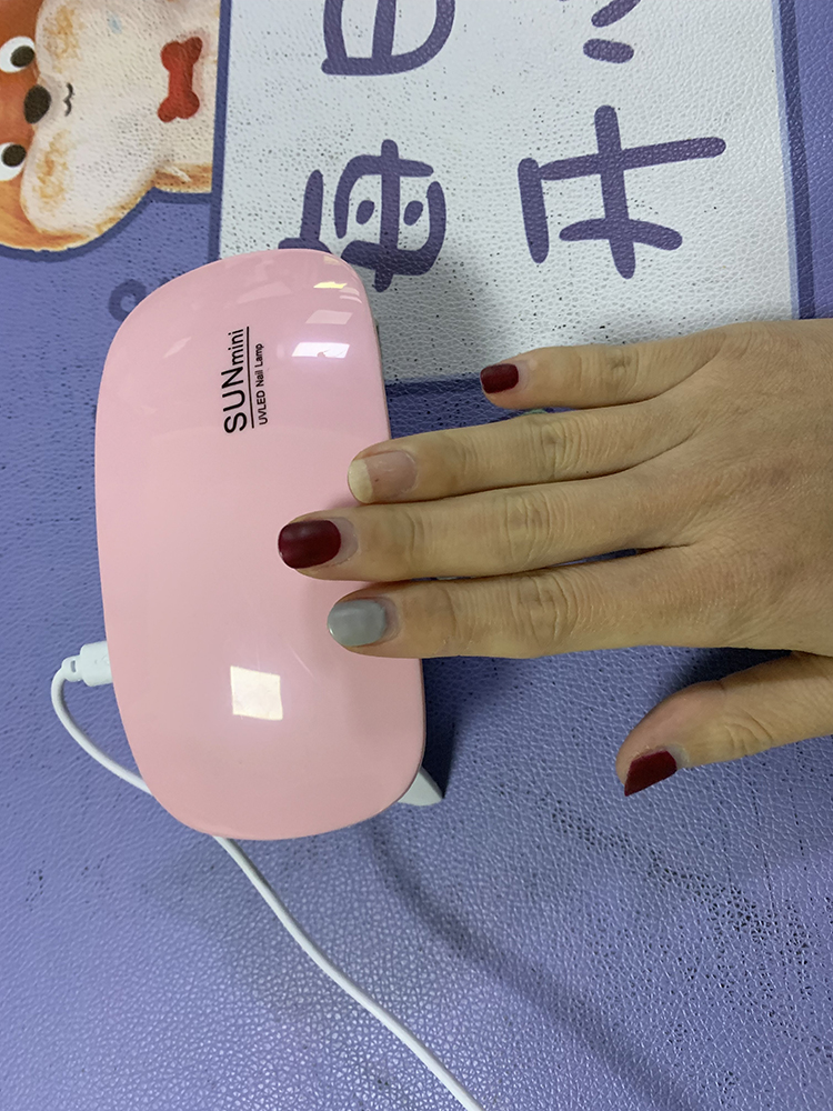 YJN5625 портативная мини-мышь быстросохнущая ABS USB 6 Вт Светодиодная УФ-лампа для ногтей