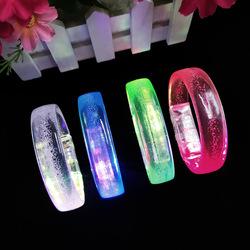 LED Flash Bracelets Multicolor Light Up Bubble Bracelet Glowing Toy Stick Party Favors Luminous Christmas Toys Wristband