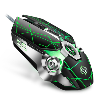K-Snake Q7 Mouse Game Wired 7 Color Illuminated USB 4000 DPI Mechanical Gaming RGB glowing Mouse for computer