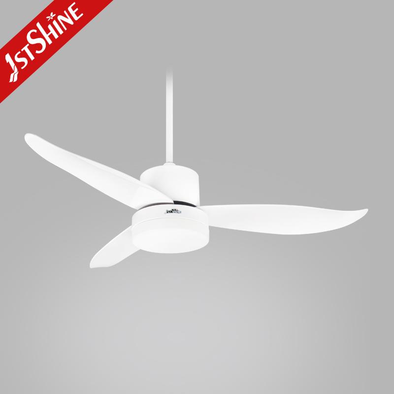 1stshine высокое качество естественный ветер 44 'ABS пластиковый лопастной двигатель переменного тока светодиодный потолочный вентилятор с подсветкой