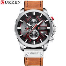 CURREN, спортивные мужские часы с хронографом, мужские часы 2019, кварцевые часы, кожаные мужские наручные часы, Relogio Masculino, модный подарок для муж...(Китай)