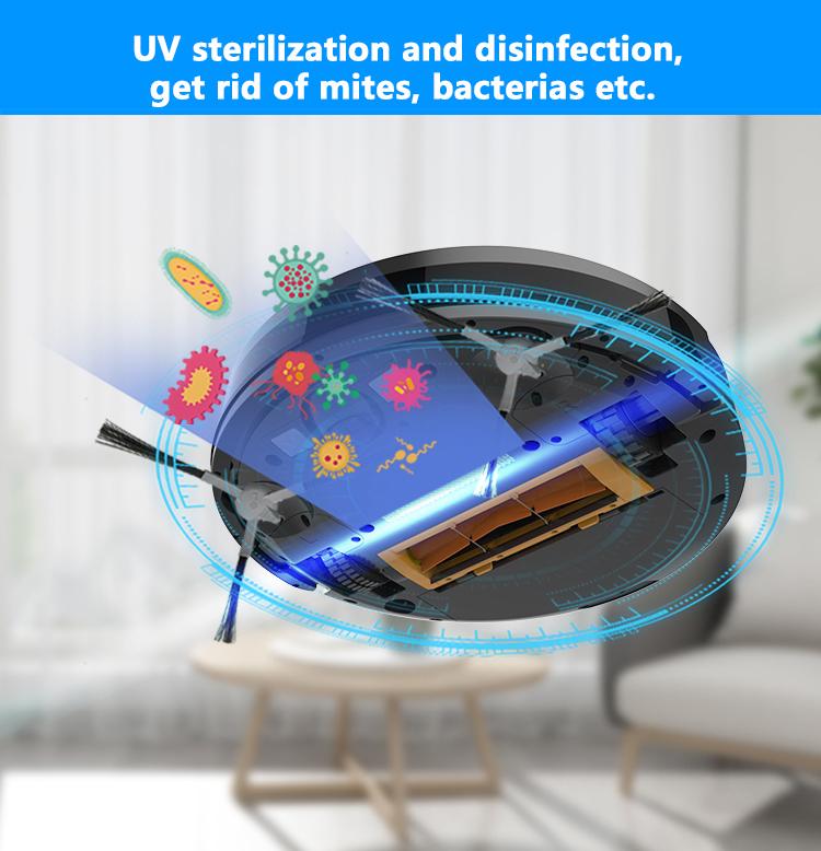 Household Multifunctional Vacuum Cleaner Robot Mop