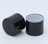 Bruine fles + Plastic Drip Tip + Zwart Aluminium Cap