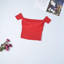 Женский свитер Heliar, короткий однотонный плиссированный свитер с открытыми плечами, небольшого размера, для улицы, на лето 2020(Китай)