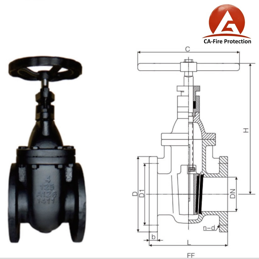 OEM and ODM manufacture ansi avk nrs gate valve