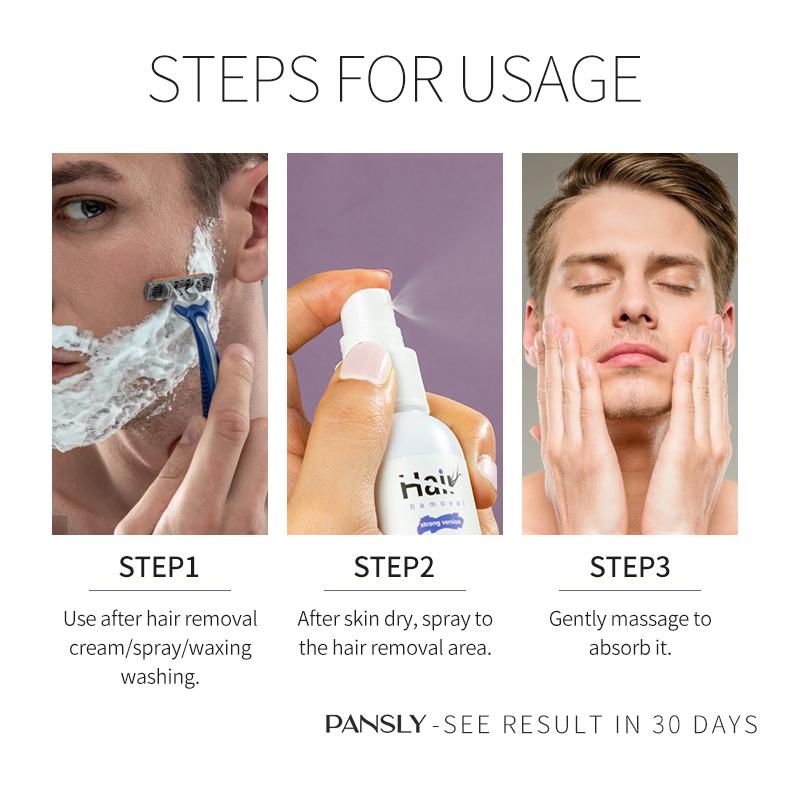 PANSLY Natural Razor Bump Treatment Solution Ingrowth Hair Prevention Spray 100ml