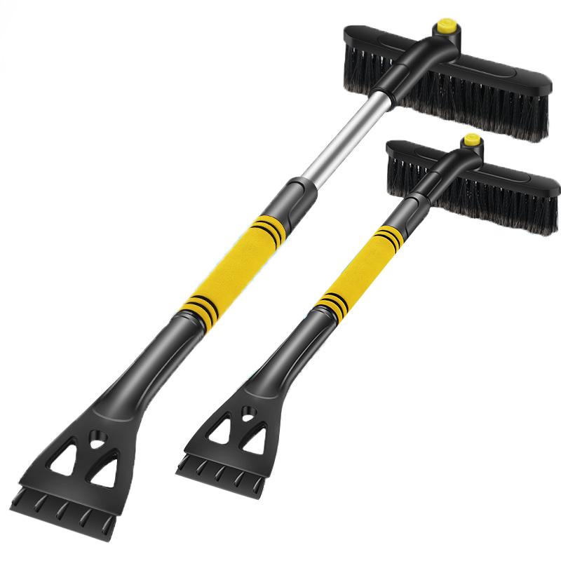Зимний Портативный Регулируемый скребок для размораживания снега, лопата для снега, щетка для снега