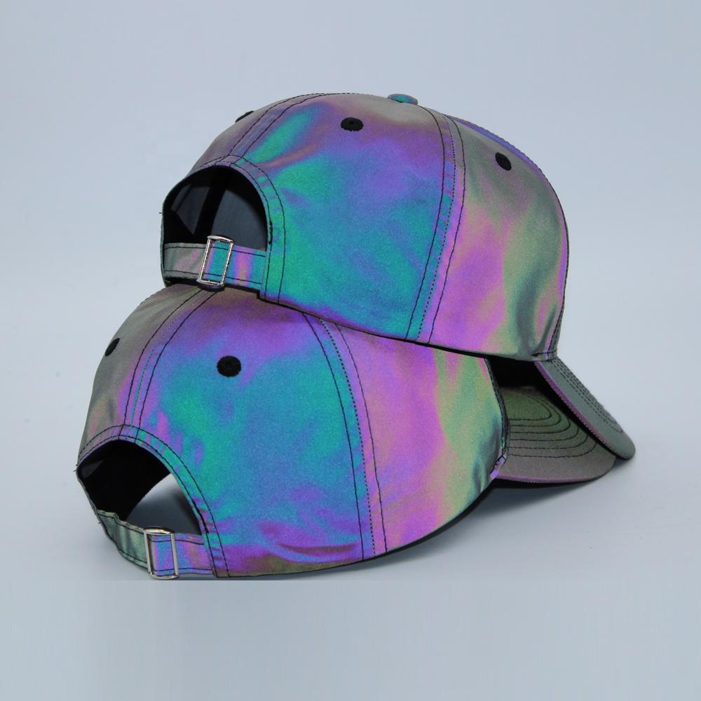 Изготовленный На Заказ Логосом вышивки модная новинка; Лидер продаж; Оптовая продажа серебряного цвета, чтобы вы были заметны пользовательские светятся в темноте Светоотражающие бейсбольную кепку