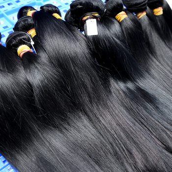 Cuticle Aligned Raw Unprocessed Virgin Straight Indian Single Drawn Raw Hair From Wholesale Manufacturer