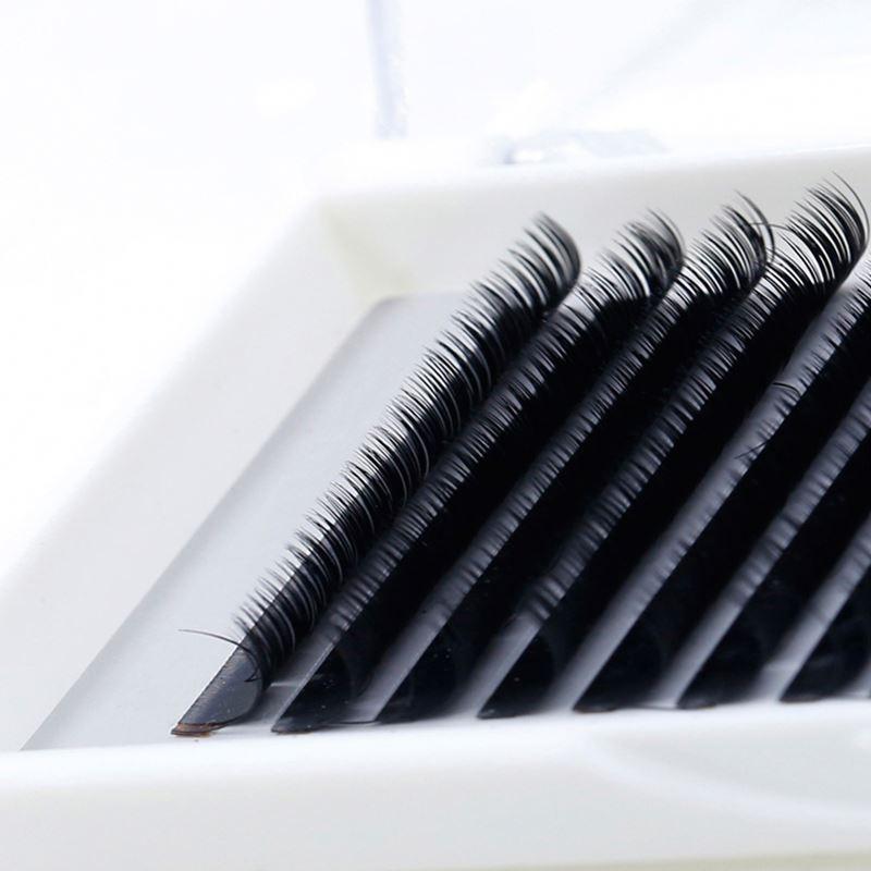 Wholesale J/B/C/D/L/L+ curl prime silk lash volume eyelash extensions private label easy fanning individual eyelash extensions