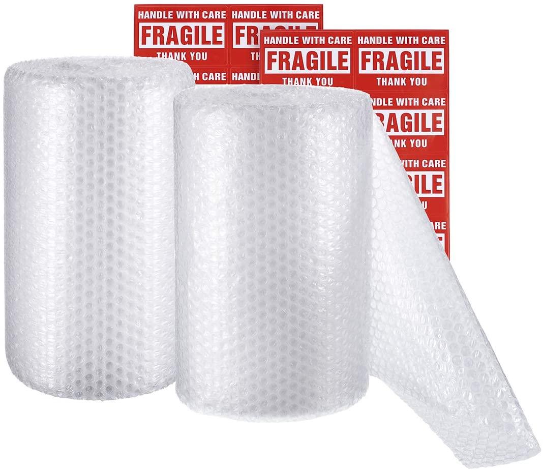 Пузырьковая амортизирующая пленка в рулонах 2 шт. в упаковке прозрачная