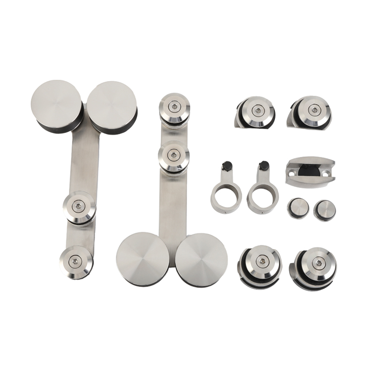 High Quality Stainless Steel Firm And Durable Frameless Glass Sliding Door Roller Hardware Accessories