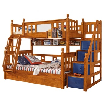 American Style Child Bed For Kids Bedroom Set House Bed Frame Kids Bunk Beds Children Solid Wood Bedroom Sets Furniture