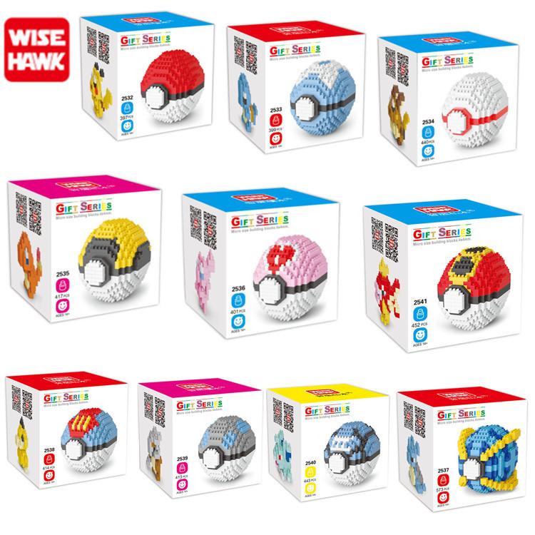 Новый пластиковый микро-строительный блок мяч Покемон детские игрушки 2019