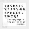 BB font
