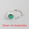 Silver-14 malachite