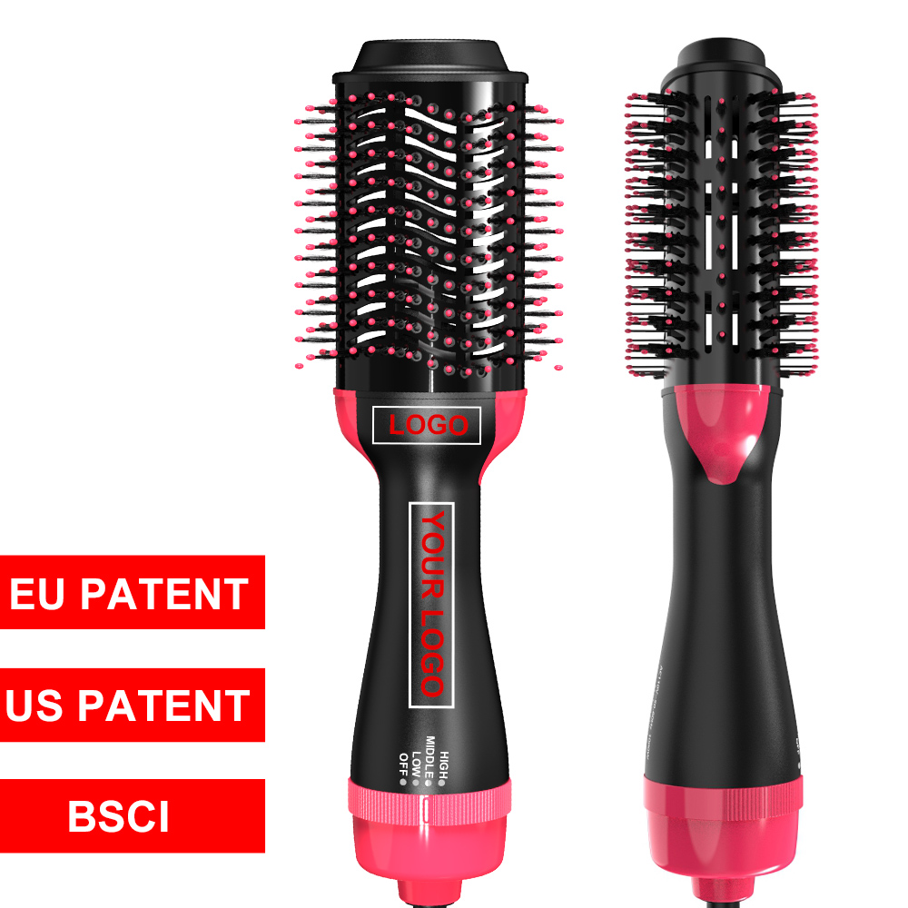 1000 Вт Горячего Воздуха Фен для волос щетка Профессиональная расческа-выпрямитель электрический фен для волос для укладки и сушки