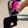 black-fur-heel set