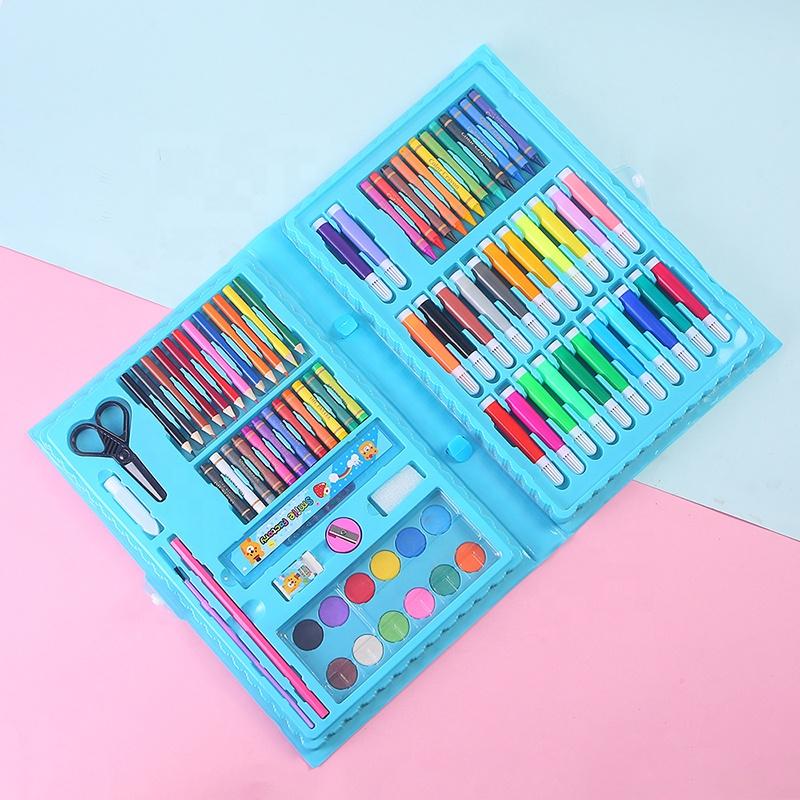86pcs набор для ногтей канцелярская бумага для детей ремесло комплекты для малыша краски рисования карандаш делая эскиз Мега водный Цвет Арт набор алмазов картина
