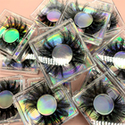 Wholesale Cruelty Free Private Label Cosmetic 3D Black Real Mink Eye Lashes 3d Mink Eyelashes 100 lashes3d wholesale vendor 25mm