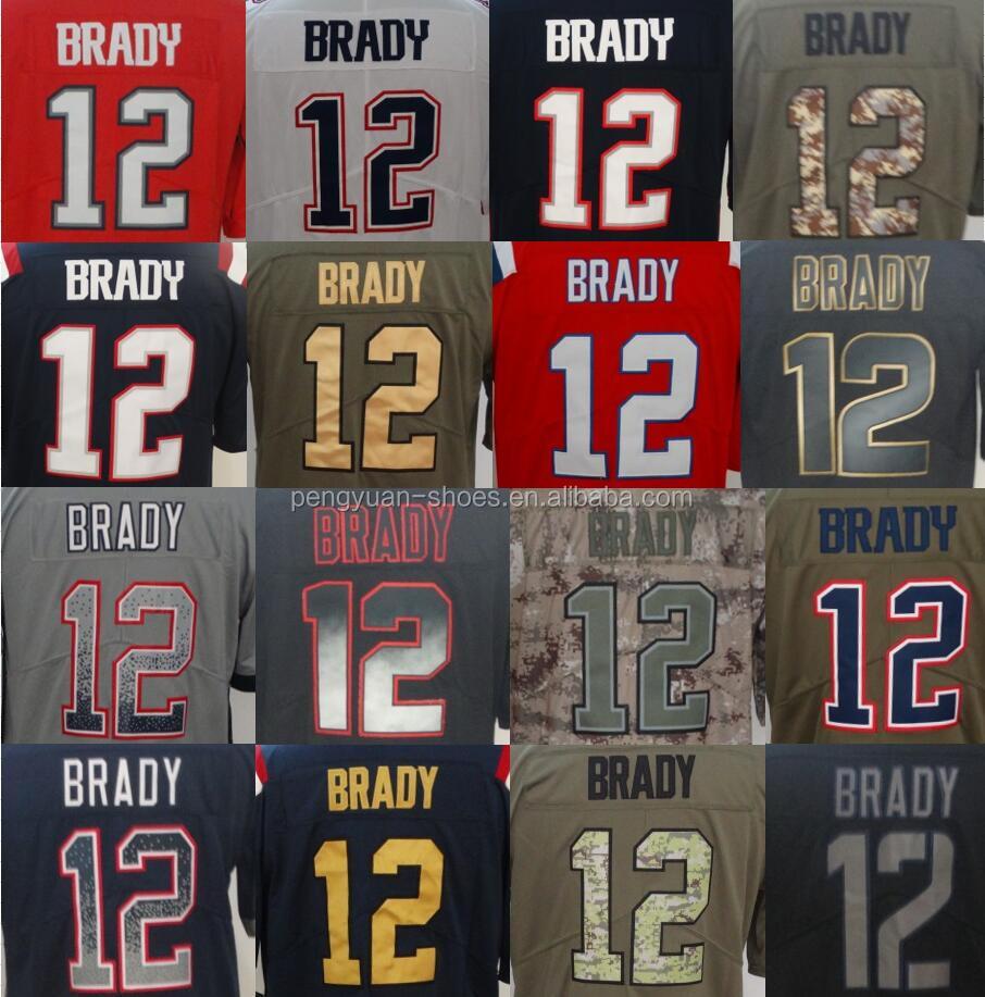 Best Quality 12 Tom Brady 11 Julian Edelman 87 Rob Gronkowski 26 Sony Michel 0 Antonion Brown Stitched American Football Jersey - Buy Tom Brady ...