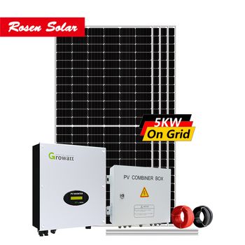 Rosen Solar On Grid Solar System 5KW Grid Tie Solar Generator for Home Power