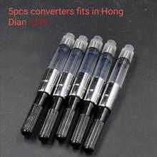 Hongdian 517D черная металлическая ручка для фонтанов, ручка для чернил, титановый черный тонкий наконечник, отличный деловой, офисный, школьные п...(Китай)