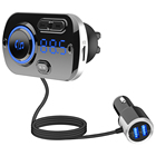 Bluetooth Usb Car Mp3 Bt 5.0 Bluetooth 5.0 Dual Usb Portable Handsfree Charging Wireless Microphone Aux Output Bluetooth Fm Transmitter Car Mp3 Player
