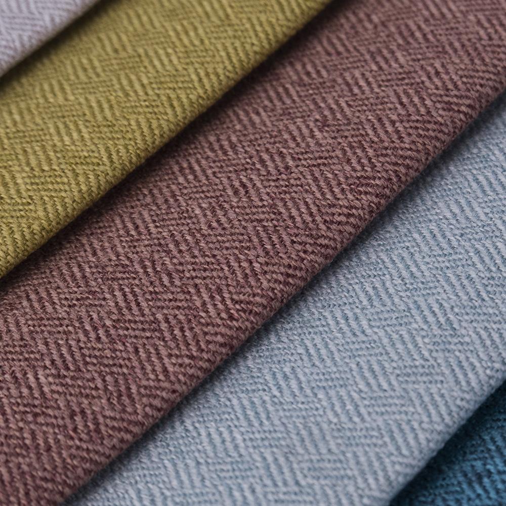 High quality luxury waterproof Herringbone cushion cover fabric for furniture