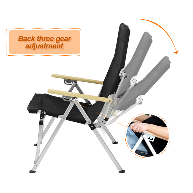 Tianye adjustable backrest aluminum folding foldable beach camping furniture outdoor chair