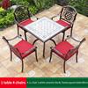 3-4 JL chair 1 white ceramic tile AL frame table 80cm