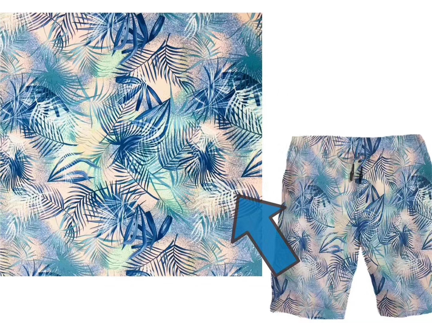 4 way spandex polyester pongee fabric with digital printed fabric and sun protection for trail running