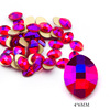 6# 4*6mm Cone Round Red AB
