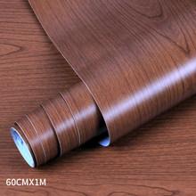ПВХ деревянные обои для кухонных пленок восстановленная Одежда Шкаф Дверь мебель для домашнего офиса Декор стикер на стену(Китай)