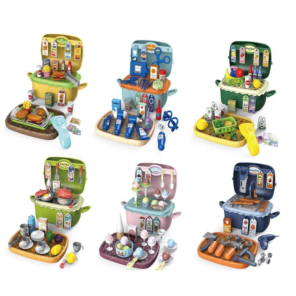 Оптовая продажа, игра для девочек, пластиковая Дошкольная игрушка для ролевых игр, модные красивые игрушки 3 в 1 для детей