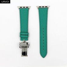 URVOI раскладной ремешок с пряжкой для Apple Watch 5 4 3 2 1 ремешок для iwatch Ремень Один Тур Дизайн Свифт кожа 38/40 42/44 мм(Китай)