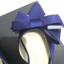 Baotou женская обувь, корейский шелк, атлас, заостренный галстук-бабочка, плоский каблук, наборы, лето 2018(Китай)