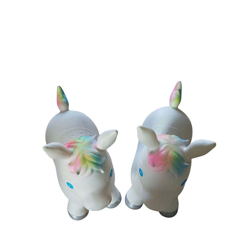 Wholesale Inflatable Animate Jumping Rainbow Unicorn Bouncer Seat