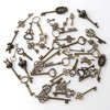 About 40 ancient silver keys