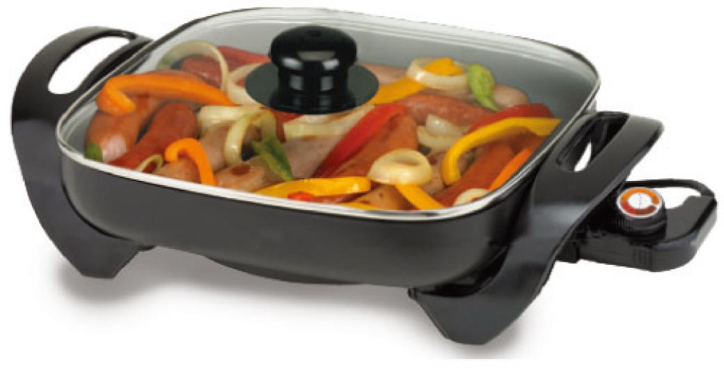 Электрическая сковорода с антипригарной поверхностью для приготовления пищи, 12 дюймов
