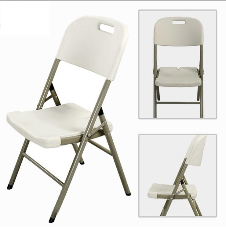 White Polypropylene Outdoor Plastic Table and Side Foldable Chair Set For Outdoor Camping and Sitting